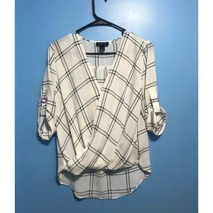 A. BYER Black and white dress shirt